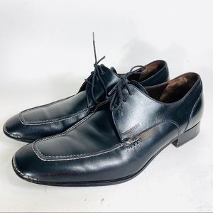 Bruno Magli Black Leather Lace Up Dress Shoe